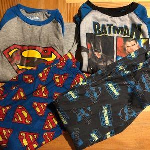 Set of 2 Boys 6-7 Superhero PJ's